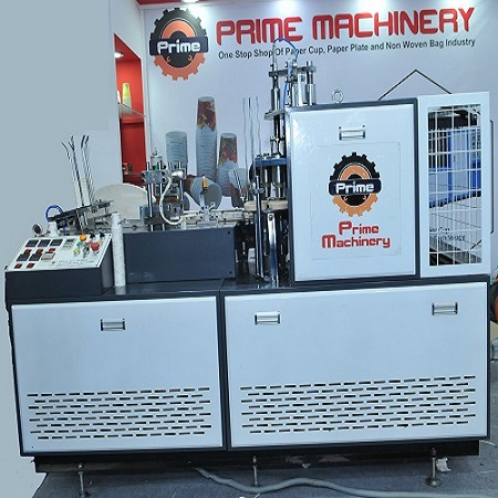 FULLY AUTOMATIC HIGH SPEED PAPER CUP MACHINE WITH DIRECT BOTTOM FEEDING AND OPEN CAM